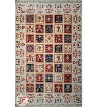 فرش سنتی ماشینی کاشان طرح ارغوان زمینه کرم کد ۲۲۷۰۸۰۳
