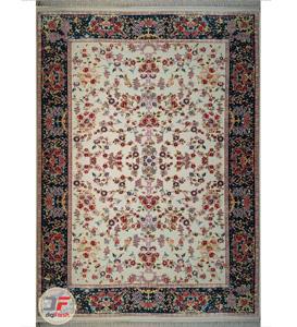 فرش سنتی ماشینی طرح بهار زمینه کرم کد 2270808