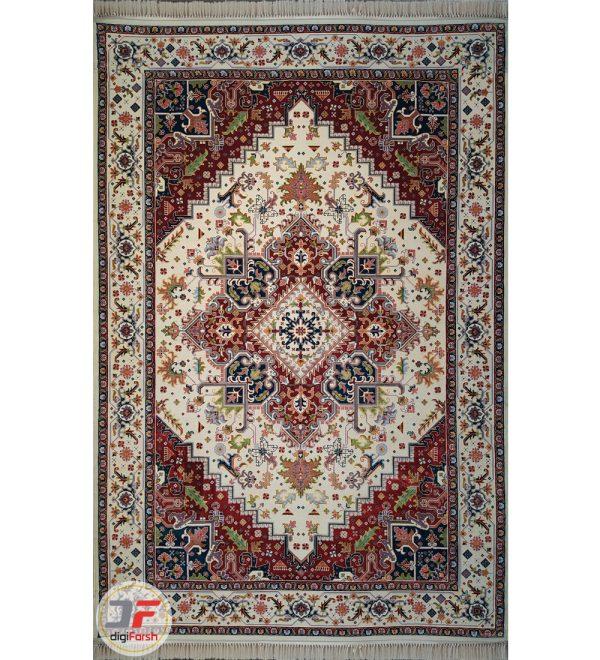 فرش سنتی طرح هریس تبریز زمینه کرم کد 2270806