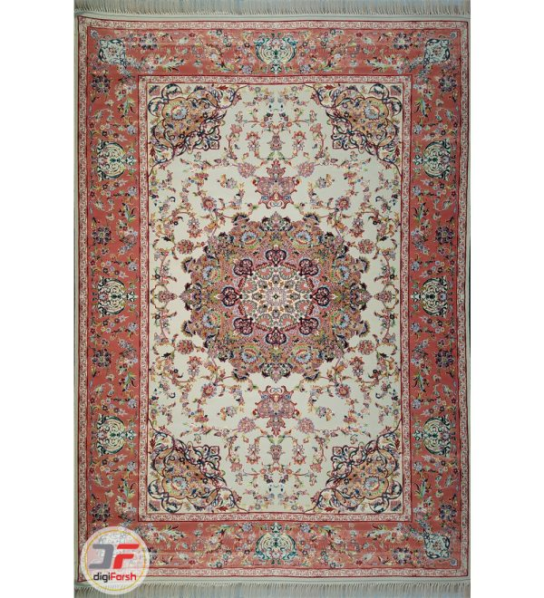 فرش سنتی ماشینی طرح اولیا تبریز زمینه کرم کد 2270801