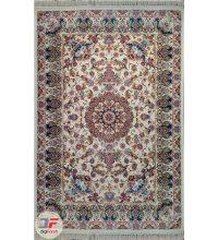 فرش سنتی ماشینی ایرانی طرح آروین زمینه کرم کد ۲۲۷۰۸۰۰