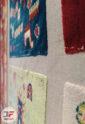 فرش سنتی ماشینی طرح چالشتر بختیاری زمینه کرم کد 2270807