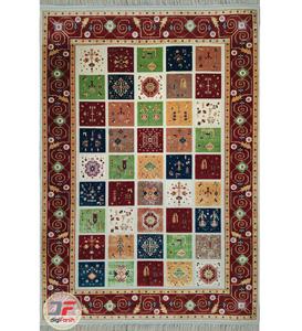 فرش سنتی ماشینی طرح چالشتر زمینه کرم کد 2270807