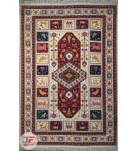 فرش سنتی ماشینی کاشان طرح الیماه زمینه کرم کد ۲۲۷۰۸۰۴