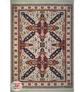 فرش سنتی ماشینی طرح گیسو زمینه کرم کد 2270809