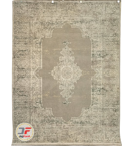فرش ماشینی 700 شانه وینتیج کاشان زمینه بادامی کد 317T13