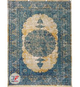 فرش ماشینی وینتیج 700 شانه کاشان زمینه کرم کد 22425445