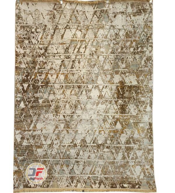 فرش ماشینی کاشان - طرح وینتیج 700 شانه زمینه کرم کد DC01
