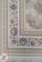 فرش ماشینی برجسته کاشان طرح آنا 1200 شانه زمینه بژ کد 221273