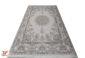 فرش ماشینی گل برجسته کاشان طرح خورشید | 1200 شانه زمینه صدفی کد 221264