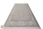 فرش ماشینی کاشان طرح استانبول | 1200 شانه گل برجسته زمینه صدفی کد 221255