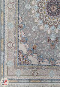 فرش ماشینی کاشان 1200 شانه طرح تندیس - ریز نقش گل برجسته کد 221271