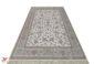 فرش ماشینی افشان آذا کرم کاشان - 1200 شانه گل برجسته کد 221257