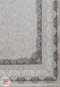 فرش ماشینی 1200 شانه طرح حریر صدفی   گل برجسته کاشان کد 221267