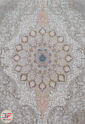 فرش کاشان طرح گلوریا حاشور خورده – 1200 شانه گل برجسته صدفی کد 221269