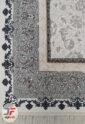 فرش ماشینی افشان کاشان طرح آوا زمینه کرم - 1200 شانه کد 221272