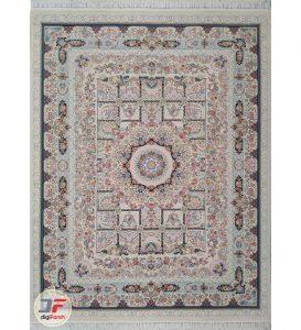فرش ماشینی کاشان طرح خانه رویایی | 1200 شانه گل برجسته زمینه فیلی کد 221256