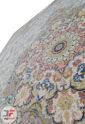 فرش 1200 شانه کاشان طرح راشین نقره ای – گل برجسته تراکم 3600 کد 221266