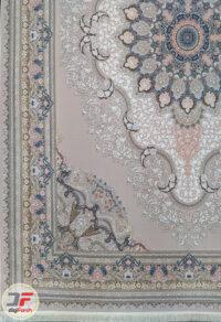 فرش ماشینی کاشان طرح گلوریا صدفی – 1200 شانه گل برجسته کد 221268