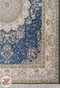 فرش کاشان طرح رایحه 1200 شانه گل برجسته زمینه آبی کد 221277