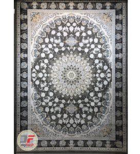 فرش قیطران طرح الهه زمینه طوسی – 1200 شانه گل برجسته کاشان کد 461259