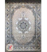 فرش ماشینی قیطران طرح ساغر خاکستری| 1200 شانه گل برجسته کد 461253