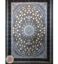 فرش ماشینی قیطران طرح میترا طوسی | 1200 شانه گل برجسته کاشان کد 461268
