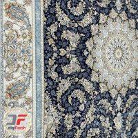 فرش 1200 شانه پامچال زمینه مشکی - فرش گل برجسته کاشان کد 231253