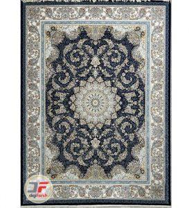 فرش 1200 شانه پامچال زمینه مشکی - فرش گل برجسته کاشان کد 232253