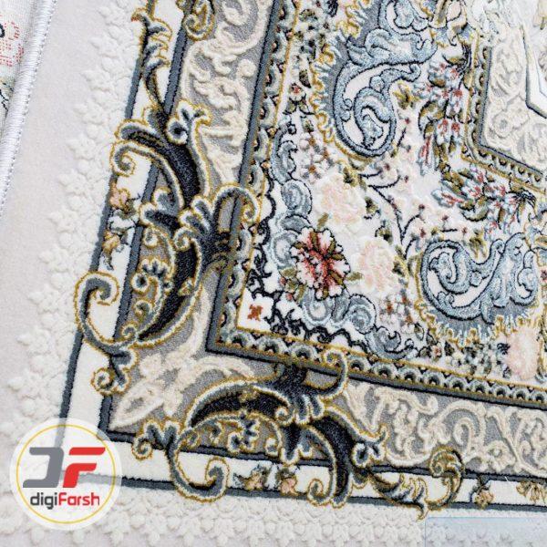 فرش پامچال کاشان طرح افشان کرم - گل برجسته 1200 شانه کد 231256