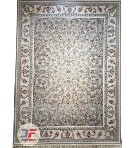 فرش افشان پامچال طرح ترمه طوسی | فرش 1200 شانه گل برجسته کد 232260