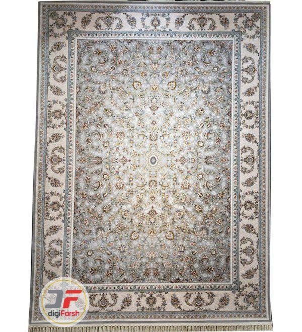 فرش افشان پامچال طرح ترمه طوسی | فرش 1200 شانه گل برجسته کد 231260