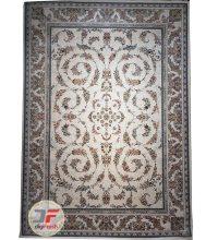 فرش افشان طرح گل گندمی پامچال کرم | فرش 1200 شانه گل برجس2ته کد 23159
