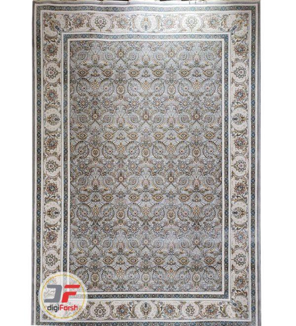 فرش افشان پامچال طرح نائین طوسی | فرش 1200 شانه گل برجسته کد 231257