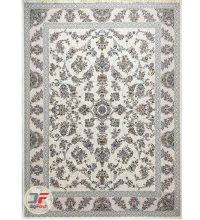 فرش ماشینی پامچال طرح افشان کرم | 1200 شانه گل برجسته کد 231247