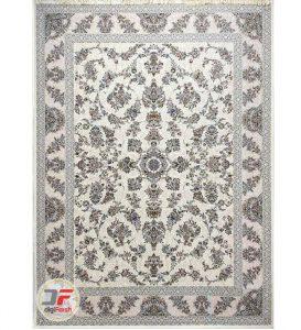فرش ماشینی پامچال طرح افشان کرم   1200 شانه گل برجسته کد 231247