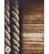 فرش اتاق خواب بزرگمهر سه بعدی زمینه قهوه ای تراکم 1400 کد 16037