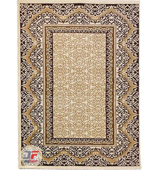 فرش سه بعدی اتاق خواب ترک طرح مدرن بزرگ مهر کاشان کد 16046