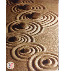 فرش ماشینی بزرگمهر کاشان سه بعدی | فرش اتاق خواب کد 16042