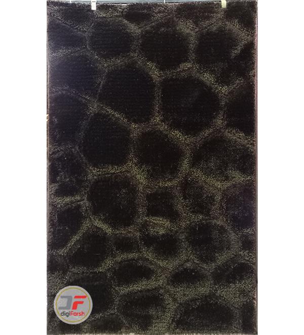 فرش ماشینی پرز بلند سه بعدی زمینه قهوه ای کد 11002