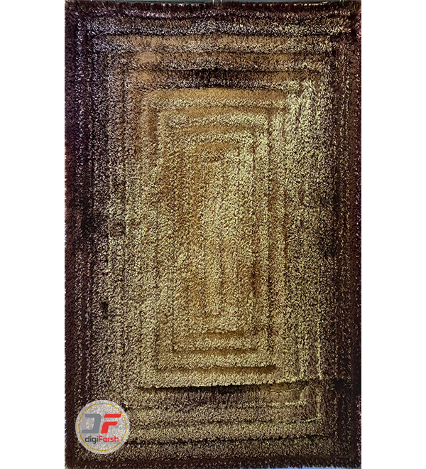 فرش پرز بلند شگی سه بعدی زمینه کرم قهوه ای کد 5015