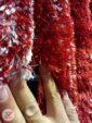 فرش شگی طرح سه بعدی ماشینی زمینه قرمز سفید مشکی کد 5015