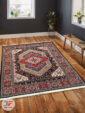 فرش ماشینی طرح دستباف زمینه سرمه ای کد 105 داخل دکور