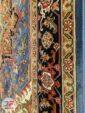 حاشیه فرش ماشینی دستباف گونه کد آبی کاربنی کد 101