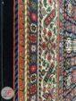 حاشیه فرش ماشینی طرح سنتی و دستباف زمینه سرمه ای کد 108