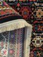 پشت فرش طرح دستباف ماشینی زمینه سرمه ای کد 108