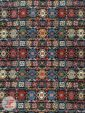 ترنج وسط فرش ماشینی طرح سنتی زمینه سرمه ای کد 108