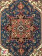ترنج فرش سنتی آبی کاربنی کد 101