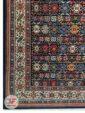 یک چهارم از فرش ماشینی قشقایی زمینه سرمه ای کد 108