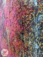 نمای نزدیک فرش ماشینی مدرن طرح کهنه نما زمینه بژ زرشکی آبی کد 21-850